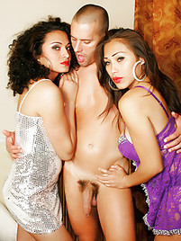 Tranny threesome picture gallery